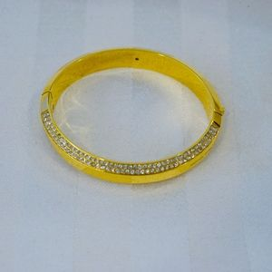 Michael Kors Yellow Gold & Crystal Bangle Bracelet